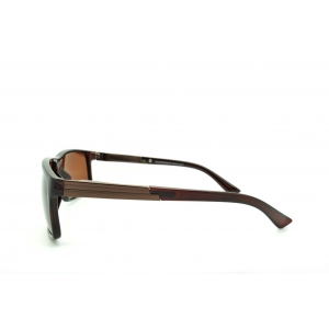 Rectangular polarized sunglasses with metallic effect on the temples