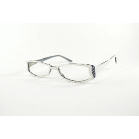 Gafas de lectura en acetato blanco y negro