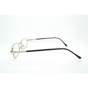 Gafas de lectura rectangulares de metal con las patillas de plástico