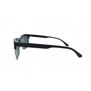 Gafas de sol polarizadas rectangulares semi círculo con metal