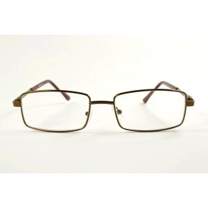 Larges lunettes de lecture rectangulaires en métal