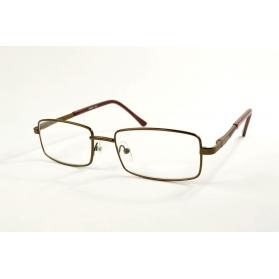 Grandes gafas de lectura rectangulares en metal