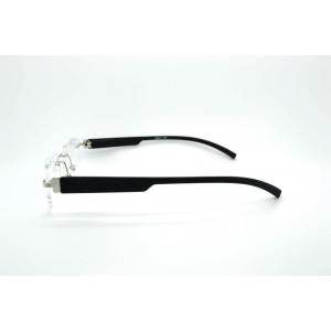Gafas de lectura rectangulares gun perforadas y pastillas de plástico