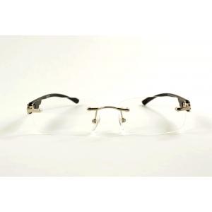Rectangular gun pierced reading glasses and plastic temples