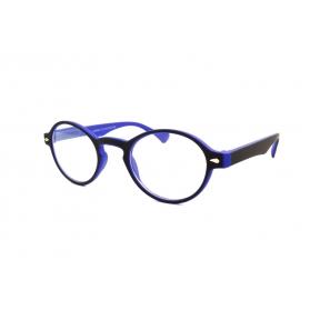 Gafas de lectura redondas bicolor de goma