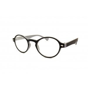 Bicolor gum round reading glasses