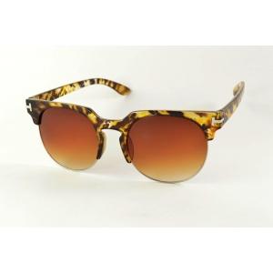 Gafas de sol redondas semi círculas
