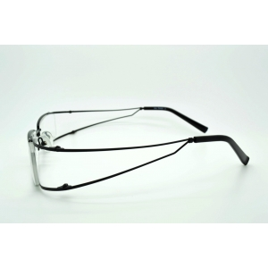 Rectangular reading glasses with rounded metal sides