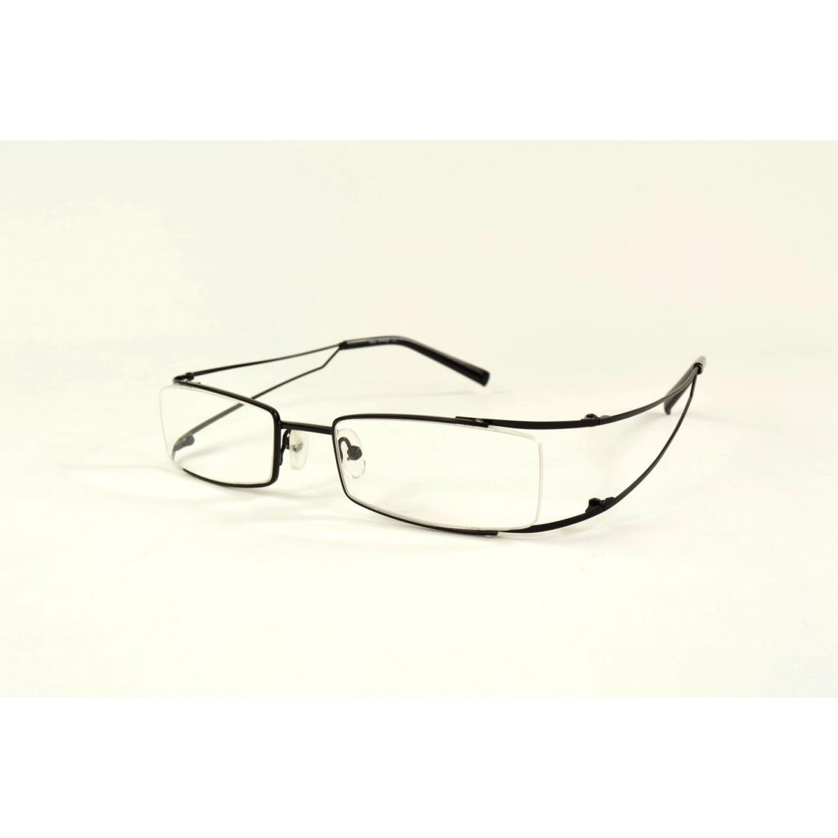 Gafas de lectura rectangulares con los bordes redondeados de metal