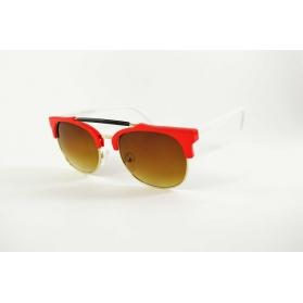 Gafas de sol con montura medio con doble barra de metal