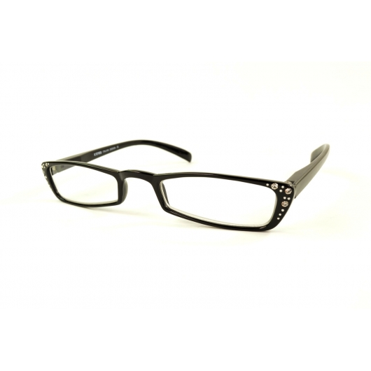 Half-moon reading glasses with diamonds