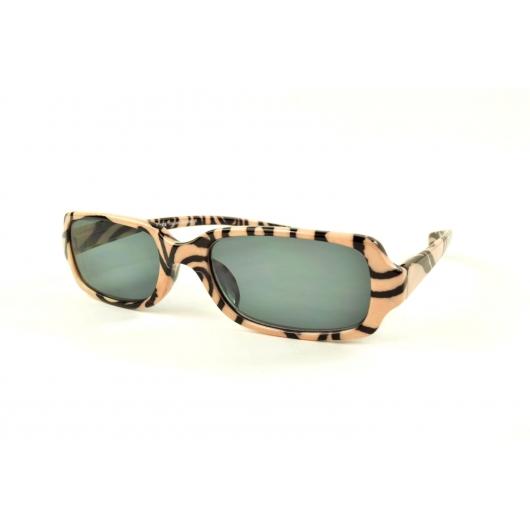 Gafas de lectura de sol con arabescos beige y negro