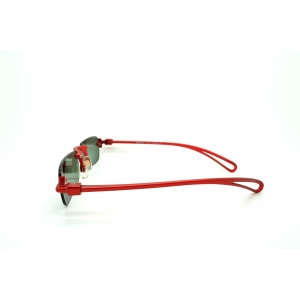 Lunettes de lecture invisibles à verres teintés et monture rouge