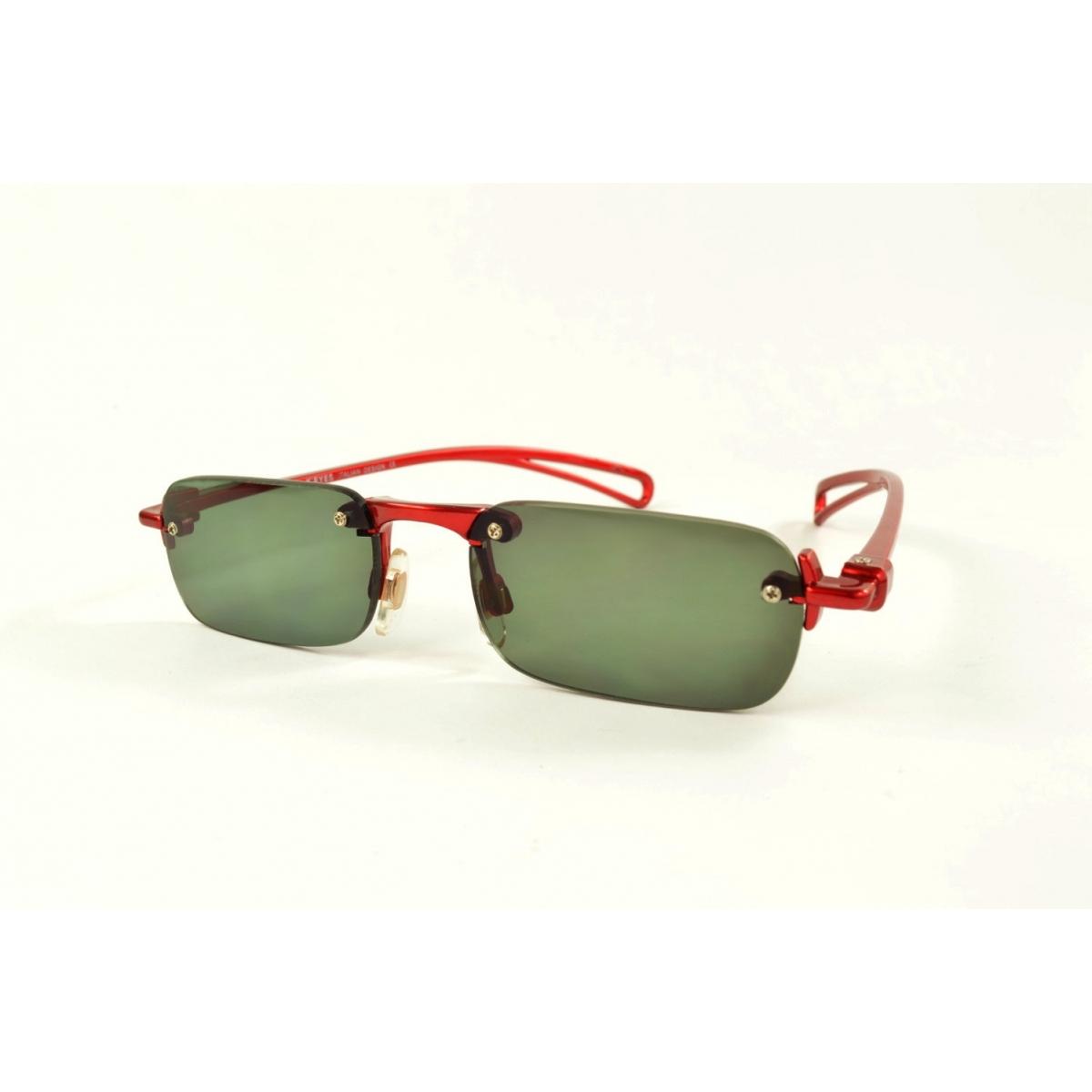 Gafas de lectura de sol invisibles con montura roja