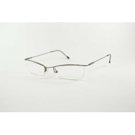 Gafas de lectura rectangulares parpadeas semi-circulas de metal