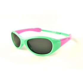 Oval polarized sunglasses for kids with customizable cord temples