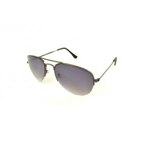 Gafas de sol aviador semicírculo con barras dobles