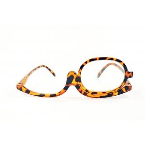 Gafas de maquillaje carey con un solo lente móvil