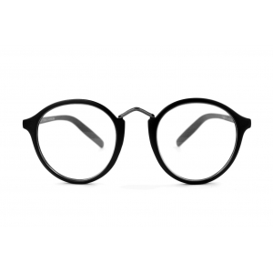 Gafas de lectura redondas con puente metálico
