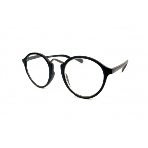 Round reading glasses with metal nose