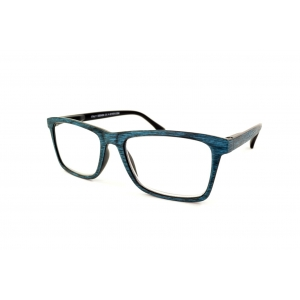 Gafas de lectura rectangulares de tipo de madera colorido
