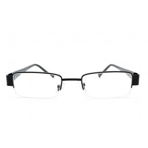 Eye-brow rectangular reading glasses made of metal