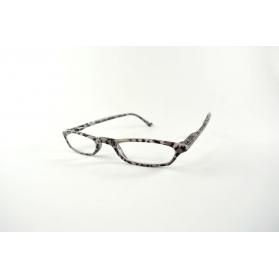 Half-moon printed reading glasses