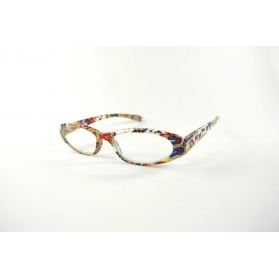 Cat eyes reading glasses with colorful printings