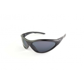 Matte black sport mask sunglasses