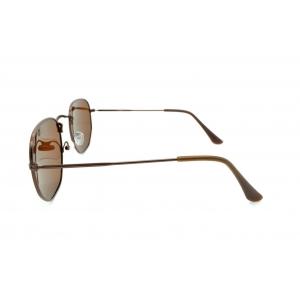 Gafas de sol polarizadas de metal octogonal