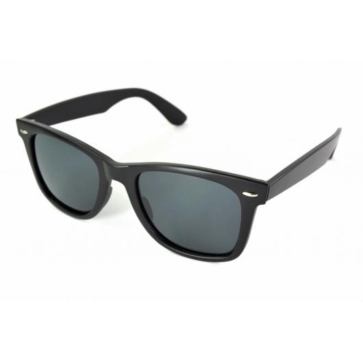 Larges lunettes de soleil polarisées mates wayfarer