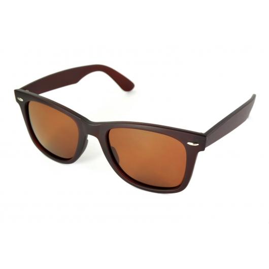 Gafas de sol polarizadas anchas wayfarer mate