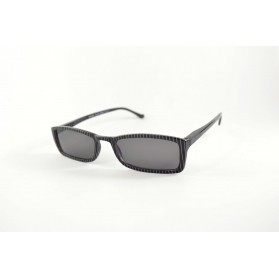 Small rectangular sunglasses with stripes