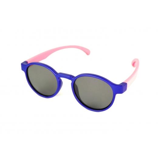 Gafas de sol polarizadas flexibles niño redondas con puente elevado