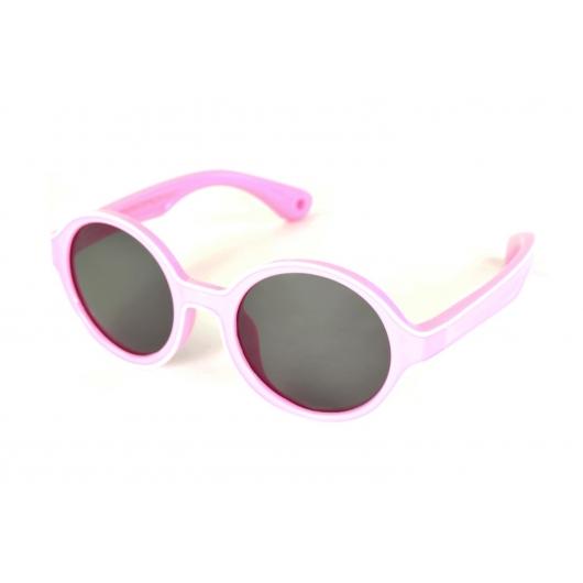 Round & flexible polarized sunglasses for Kids with white border