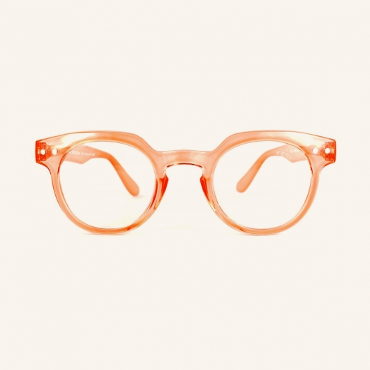 Gafas de lectura redondas con parte superior angular
