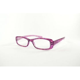 Rectangular reading glasses with round edges and feminine printings