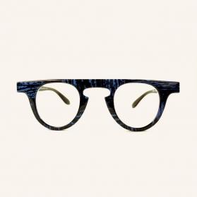 Large round retro polarized sunglasses