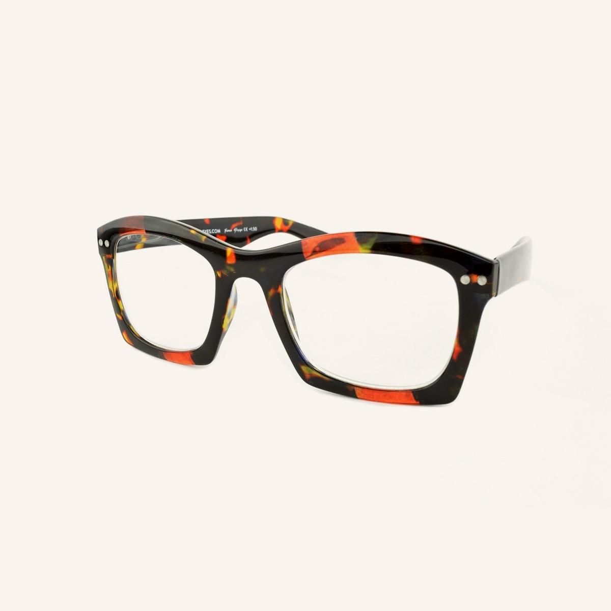 Larges lunettes de lecture aux bords rectangulaires