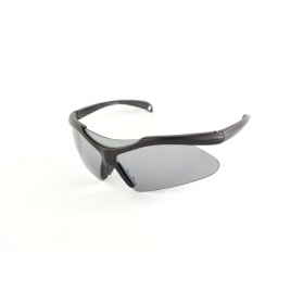 Matte semi-rimless sunglasses
