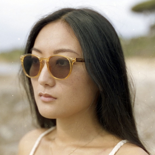 Gafas de sol graduadas redondas retro
