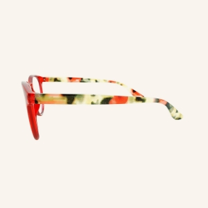 Screen pantos reading glasses with keyhole-shaped nose and two studs on each side of the frame