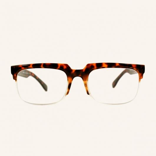 Gafas de lectura semicirculares retro