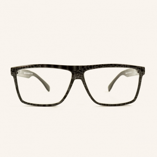 Large rectangular reading glasses retro shape