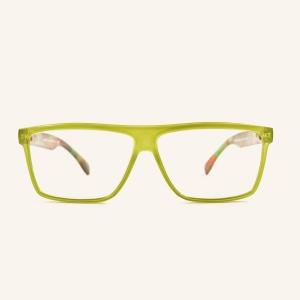 Grandes gafas de lectura rectangulares retro
