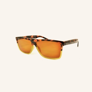 Grandes gafas de sol graduadas rectangulares retro
