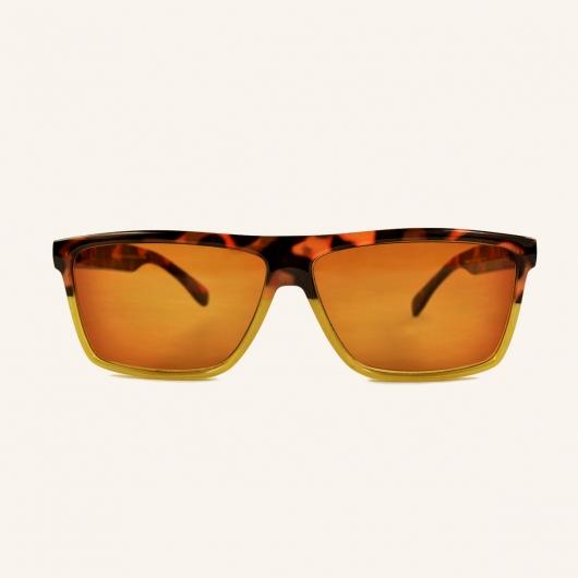 Large lunettes de lecture verres teintés rectangulaire rétro