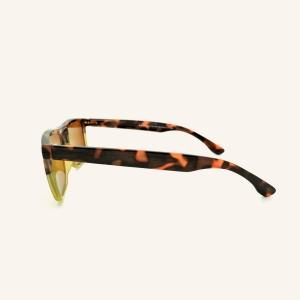 Large rectangular reading sunglasses retro shape