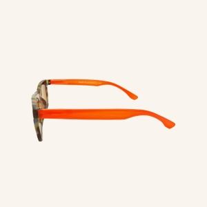 Lunettes de lecture solaires oeil de chat rectangulaire coloré