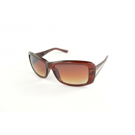 Rectangular sunglasses with silver line